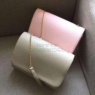 Mini Clutch HnM baby pink tas selemang sling bag
