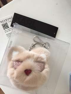 Authentic Karl Lagefeld choupette fur cat bagcharm/keychain