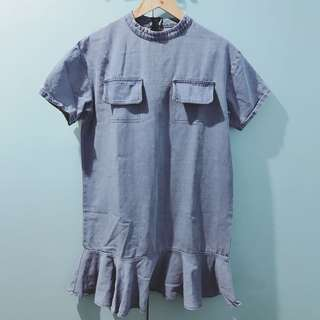 Korean inspired denim dress