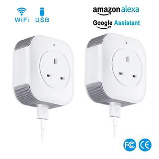 🚚 WIFI Smart Plug with USB 2.0 Interface (Works with Amazon Echo and Google Home)