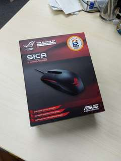全新 Brand New Asus 華碩 ROG SICA 電競滑鼠 Gaming mouse 5000 dpi 130 ips 左右手通用
