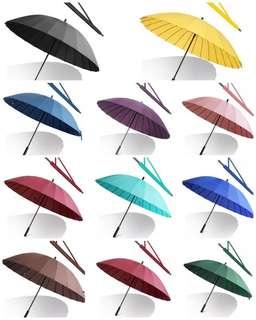 浄色24骨超強抗風傘