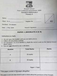 P3 - P6 Primary School Exam Papers (from top schools)