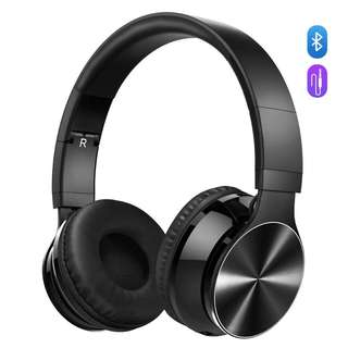 1365. Bluetooth Headphones, VicTsing Wireless Foldable Over-Ear Hi-Fi Stereo Headset With Noise Cancelling Microphone, Supports Hands-Free Calling and Wired Mode for PC/Cell Phones/TV - Black