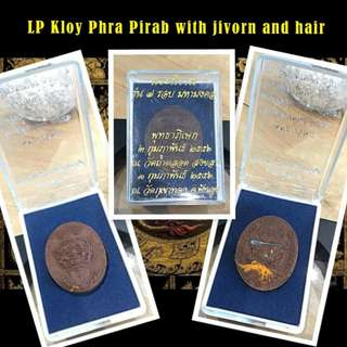 Lp Kloy Phra Pirab with Monks hair , jivorn