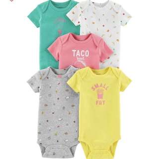 BN Carter's 5-pack bodysuit (taco)
