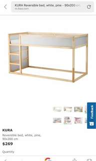 Double bunk bed for children