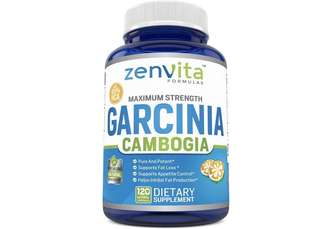 [IN-STOCK] Pure Garcinia Cambogia Extract 95% HCA - 120 Capsules - Non-GMO & Gluten Free, Highest Potency, Maximum Strength Natural Weight Loss Supplement, Appetite Suppressant, Fat Burner - ZenVita Formulas