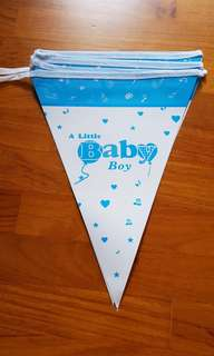 A Little Baby Boy Pennant Banner