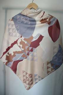 Jamilla Maroon - Maxmara square hijab
