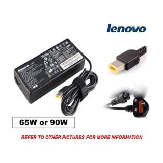 🚚 Lenovo Power Adapter (Genuine) w/ Flat Slim-Tip Converter