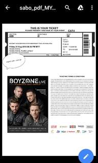 Boyzone ticket concert