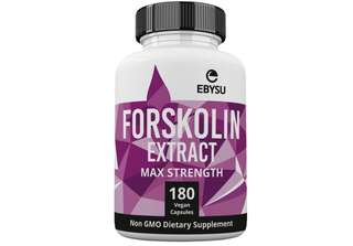 [IN-STOCK] EBYSU Forskolin Extract - 500mg Max Strength - 180 Capsules Weight Loss & Appetite Suppressant Supplement