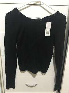 Kookai Jemma Black Tie Top