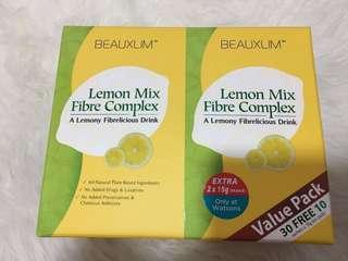Beauxlim lemon fiber drink for slimming,detox, improve skin condition (30 packs)+5packs