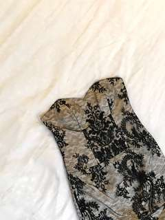 Custom Made: Black Gold Long dress