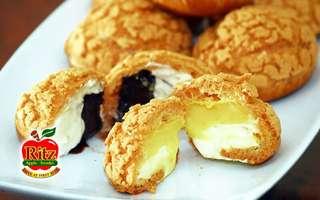9-Piece Set of Chocolate, Durian, and Custard Crispy Puffs