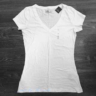 【美國親自帶回】Hollister HCO 海鷗白色短袖T恤 美國代購 夏天必備 涼感(S號)