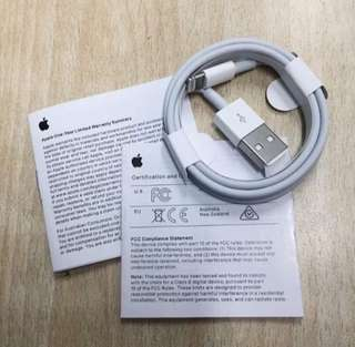 "ORIGINAL APPLE LIGHTNING CABLE AND APPLE WALL CHARGER 5W With box and manual ""Guaranteed Authentic"" Lowest price in the market!"