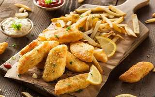 Signature British Beer Battered Fish with Fries for 1 Person