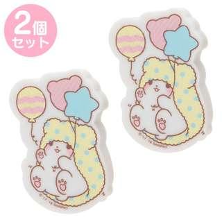 Japan Sanrio Marumofubiyori Character shape Eraser 2 Sets (balloon)