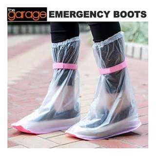 EMERGENCY BOOTS WATERPROOF REUSABLE SHOE COVERS , Unisex , anti-Leptospirosis , Baha Shoes , BOTA , BOTAS, Raincoat , Flood Shoes