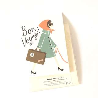 Rifle paper co blank bon voyage greeting card