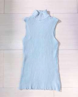 Blue/Mint Ribbed Top