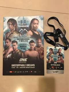 One Championship collectors items