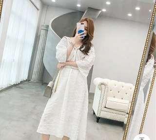 🚚 《全新》白色蕾絲洋裝