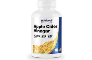 [IN-STOCK] Nutricost Apple Cider Vinegar 500mg, 240 Veggie Capsules - Extra Strength, Non-GMO and Gluten Free