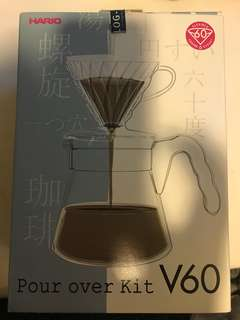 Hario v60 coffee dripper full set with filter paper