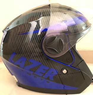 LAZER Helmet (Neon Blue)