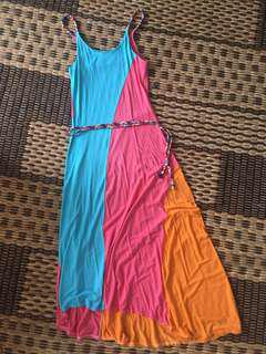Colour Block Maxi Dress (S-M)