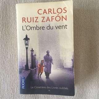 FRENCH BOOK - L'Ombre du vent, Carlos Ruiz Zafón