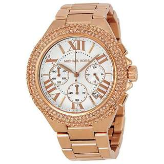 CAMILLE CHRONOGRAPH ROSE GOLD-TONE LADIES WATCH MK5636