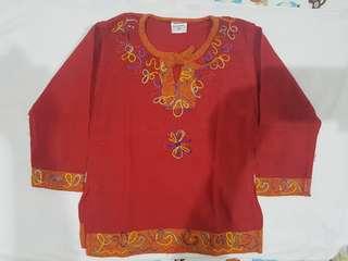 Baju Anak Lengan Panjang (Merah)