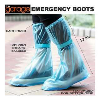 EMERGENCY BOOTS WATERPROOF REUSABLE SHOE COVERS  , Unisex , Foldable Boots , Botas , Bota , Shoe Cover , Rain Protect , Boots
