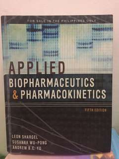 UST pharmacy textbook - Applied Biopharmaceutics and Pharmacokinetics by Shargel