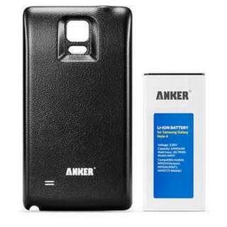 Anker USA Extended Battery for Note 4 6440mAh with Black Cover
