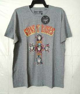 Original Guns N' Roses Cross Logo T Shirt Large