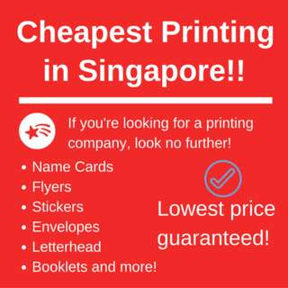 Cheapest Print Service in SG