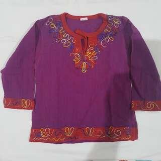 Baju Anak Lengan Panjang (ungu)
