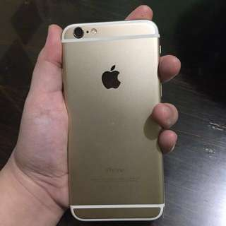 RUSH! Iphone 6 16gb Gold (Globe locked) WITH FREE CASES!