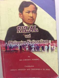 Rizal and Philippine Nationalism by Romero