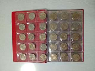 Old Singapore one dollar coins with coin album years 67-68  90pcs $380