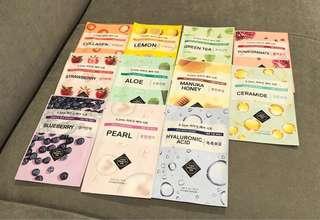Face mask set 11 pcs + free premium samples 6pcs
