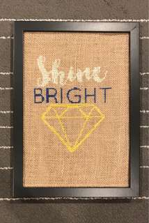 🚚 Shine Bright Cross Stitch Burlap Decorative