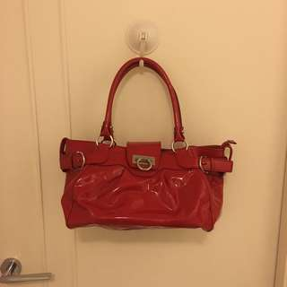 Salvatore Ferragamo patent Leather bag