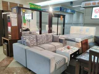 Bisa kredit sofa minimalis abu abu